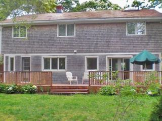 Vineyard Haven house photo - Large Mahogany Deck Opens Out From Dining Area, Nicely Expanding Entertaining & Outdoor Dining