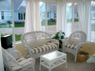 Additional seating in sunroom
