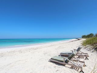 Double Bay estate photo - Private beach in front of Windsong. Just another day in paradise!