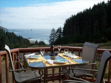 Patio Bistro Table with Ocean/Beach View