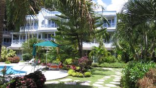 Hastings condo photo - Our lush gardens and relaxing pool for you to enjoy!