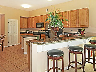 Beautiful furnished kitchen big enough for family reunions