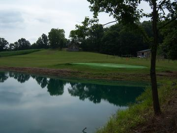 Stocked Lake from # 7 tee box to green 99 yards