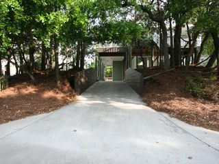 Convenient 2nd driveway for more cars - Folly Beach house vacation rental photo