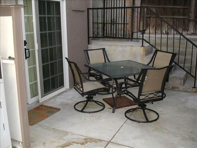 Outdoor patio table and gas BBQ for your use!
