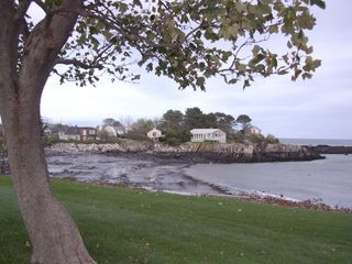 Biddeford house photo - The house (far left) as seen from the other side of the cove.