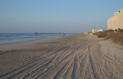 Walk right out to The Grand Strand (actual photo from Ocean Blue Beach front)