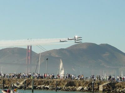 the blue angels flying at Fleet Week