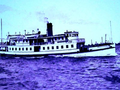 A a day in the life of the Chesapeake Bay steamer plying blue waters.