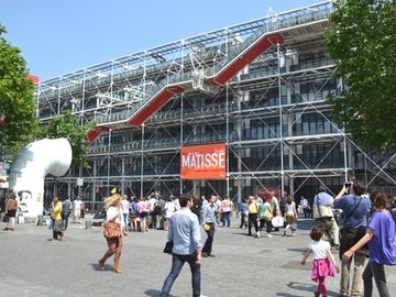 The Pompidou center (Beaubourg), round the corner