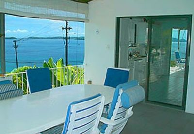 The GP Seaview alfresco dining deck #2 (with BBQ grill) seats 6.