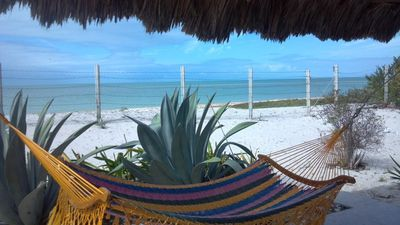 Villa Mariposa is right on the beach!  Feel the breeze