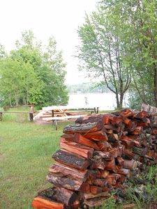 Indian River lodge rental - Island fire pit