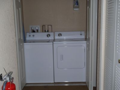 Regal Palms townhome rental - Washer and Dryer for your use