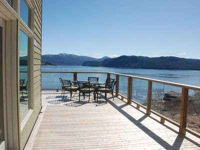 Villa by the Ocean house overlooking beautiful Bonne Bay in Woody Point
