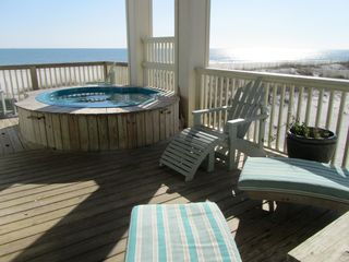 Gulf Shores house photo - Beachfront Hot Tub
