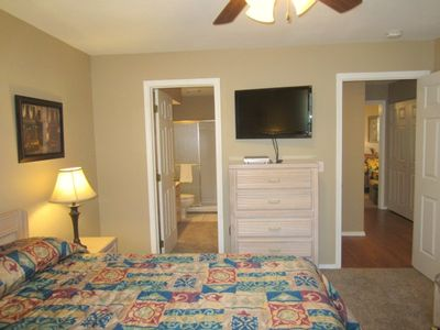 Branson condo rental - The guest bedroom exits to the bathroom & the hall.