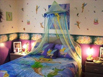 Emerald Island villa rental - Tinkerbell room with Queen Bed and TV ipod Docking Station Ceiling Fan