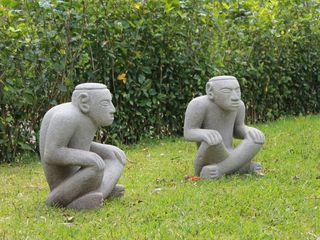 San Ramon villa photo - Some of Villa Hada's statuary by Guanacaste's indigenous Chortega indians.