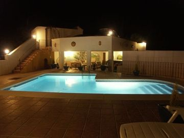 Mijas apartment rental - Pool and covered spa terrace .