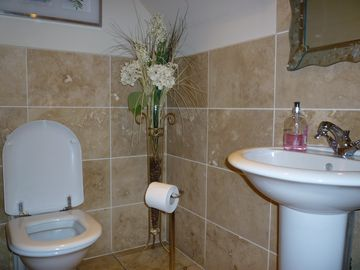 Cloakroom WC downstairs at Dalcraig House