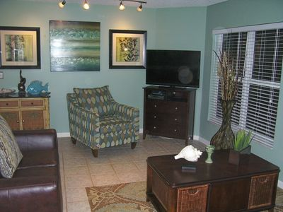New Smyrna Beach condo rental - Relaxing living room area