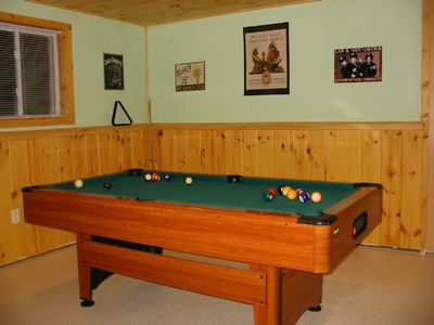 Recreation Room Pool table