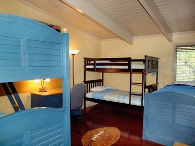 Bunk Room #1 has two sets of twin bunkbeds and 1 additional twin bed.