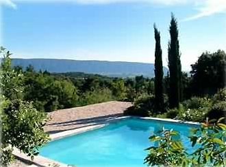 View of the Luberon Hills from pool