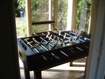 fooseball table for the kids
