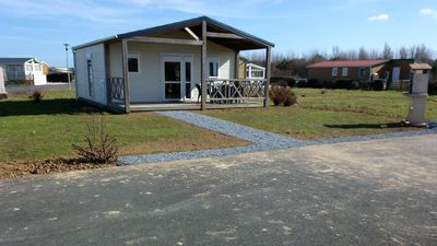 Chalet rental in a holiday village located by the sea in Grandcamp-Maisy