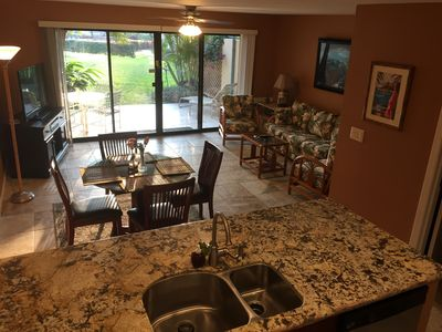 kitchen, dining room and living room and lanai