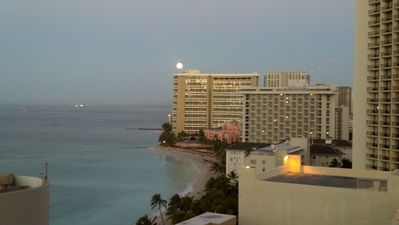 View from the Lanai- Sunrise Full Moon