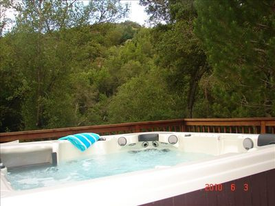 Napa estate rental - Pheonix spa, seats 6, stereo system - ipod and CD'