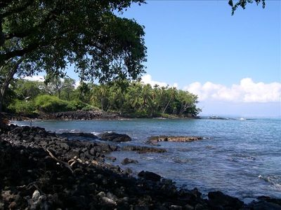 Kailua Kona house rental - Lyman's Cove, a great surfing area, within walking distance of your home.
