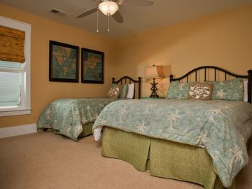 1st Floor Bedroom with queen & twin bed.