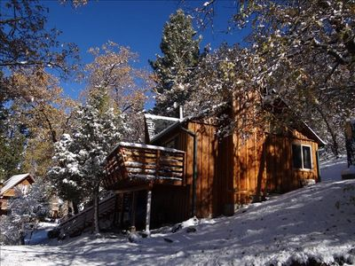 Whispering squirrel cabin spring special 3rd vrbo for Big bear village cabins