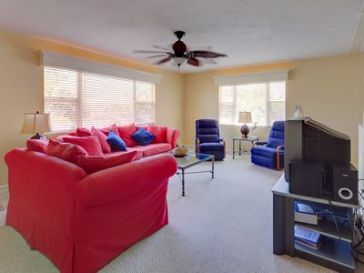 Enjoy our spacious and comfortable living room with cozy seating