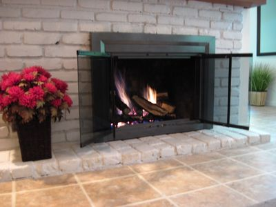 Gas fireplace in bonus room