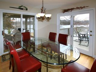 Moneta house photo - Dining area for 6, overlooking lake