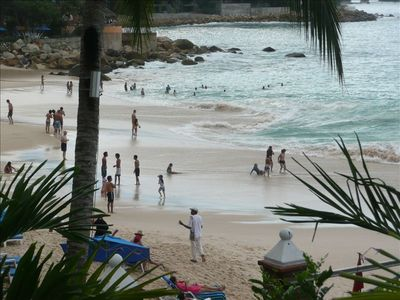 Swimmers at Playas Gemelas