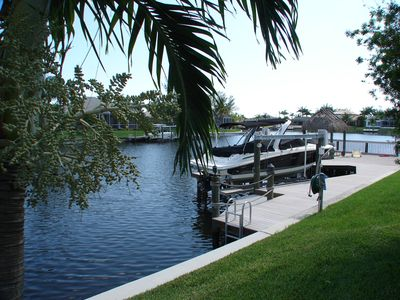 Private dock for fishing or boating
