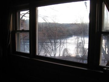 Lake view from front living room window. Late autumn, 2011.