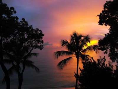 Paynes Bay apartment rental - Sunset from the balcony (guests photograph)