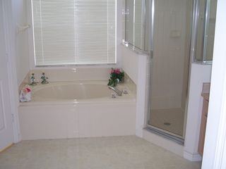 Orange Tree house photo - Beautiful master bathroom with large shower, oversized bathtub & seperate sinks