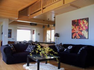 Kekaha villa photo - Spacious Upstairs living room