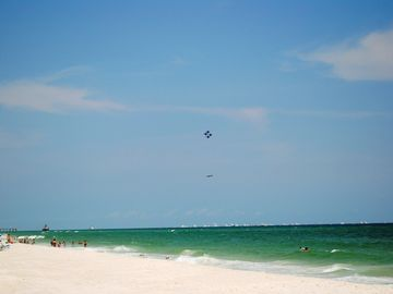 Photo of the Blue Angels Airshow over the Gulf of Mexico