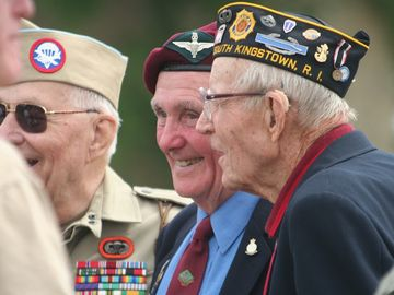 veterans at a celebration