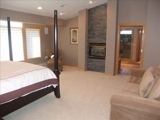 Incline Village house photo - Master suite with fire place and sofa.