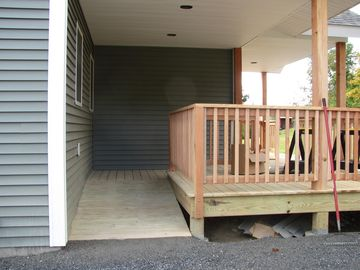 The accessible ramp, so even someone in wheelchair may access this home!